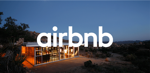 landing page of airbnb