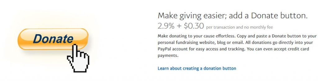 paypal donation button and benefits