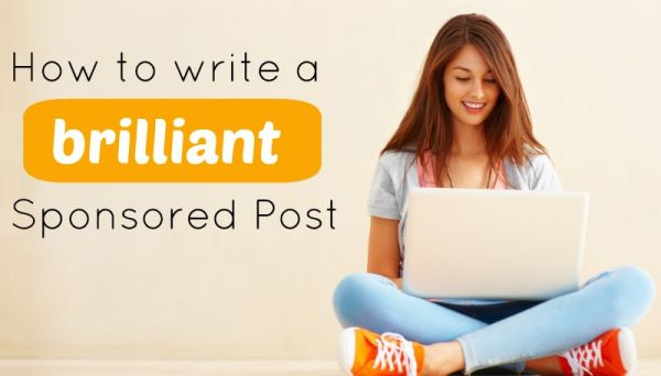 how to write sponsored post