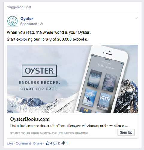 facebook in feed ads