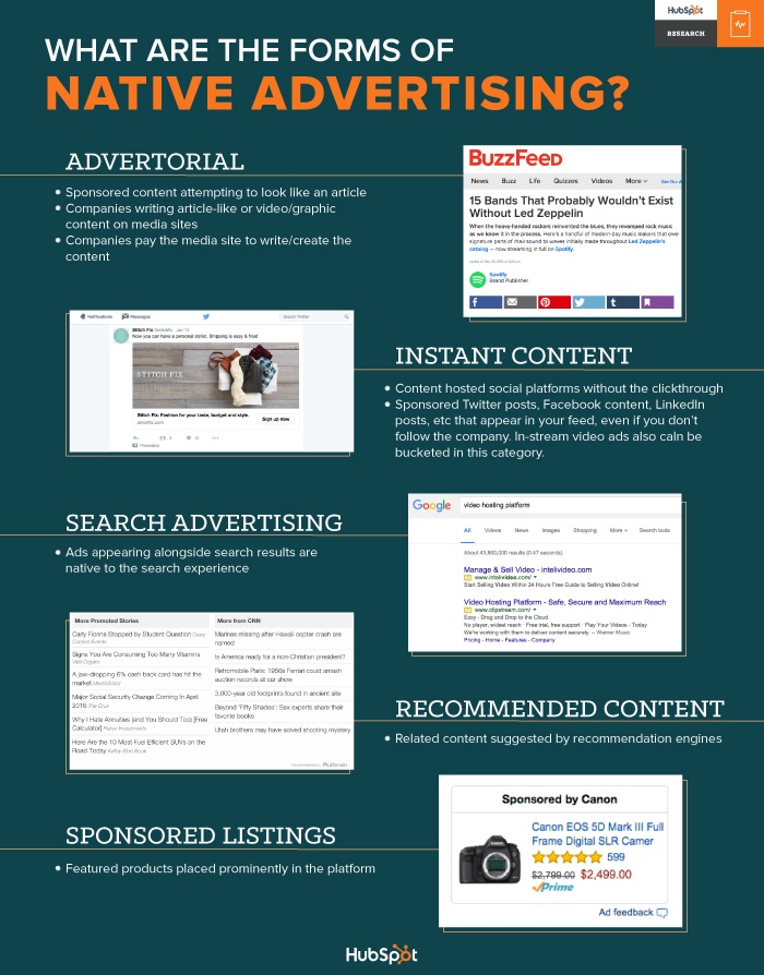 types of native advertisement